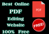 Best Online PDF Editing Website 100% Free
